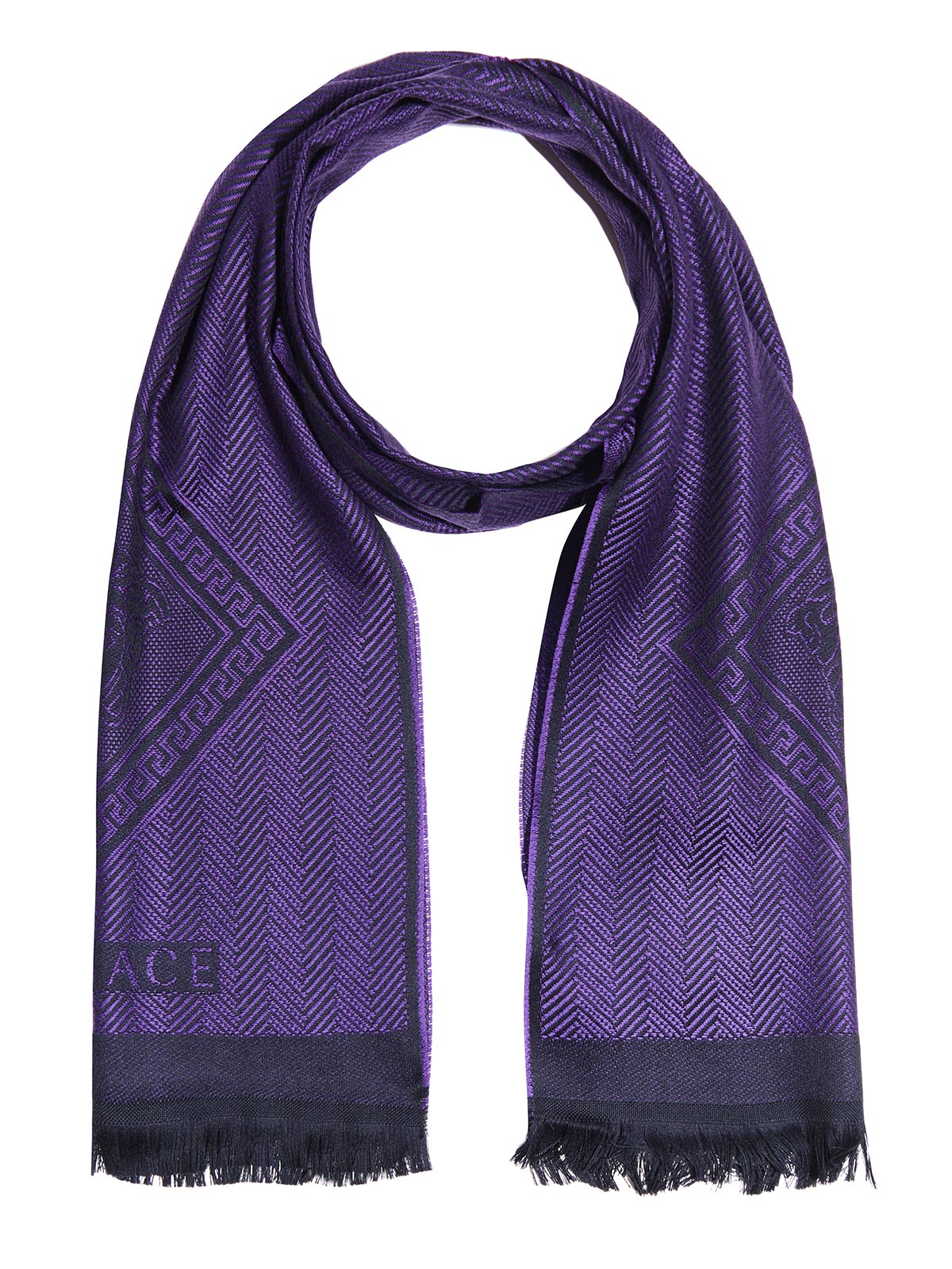 Versace Scarf, 180x36cm, Purple by Versace