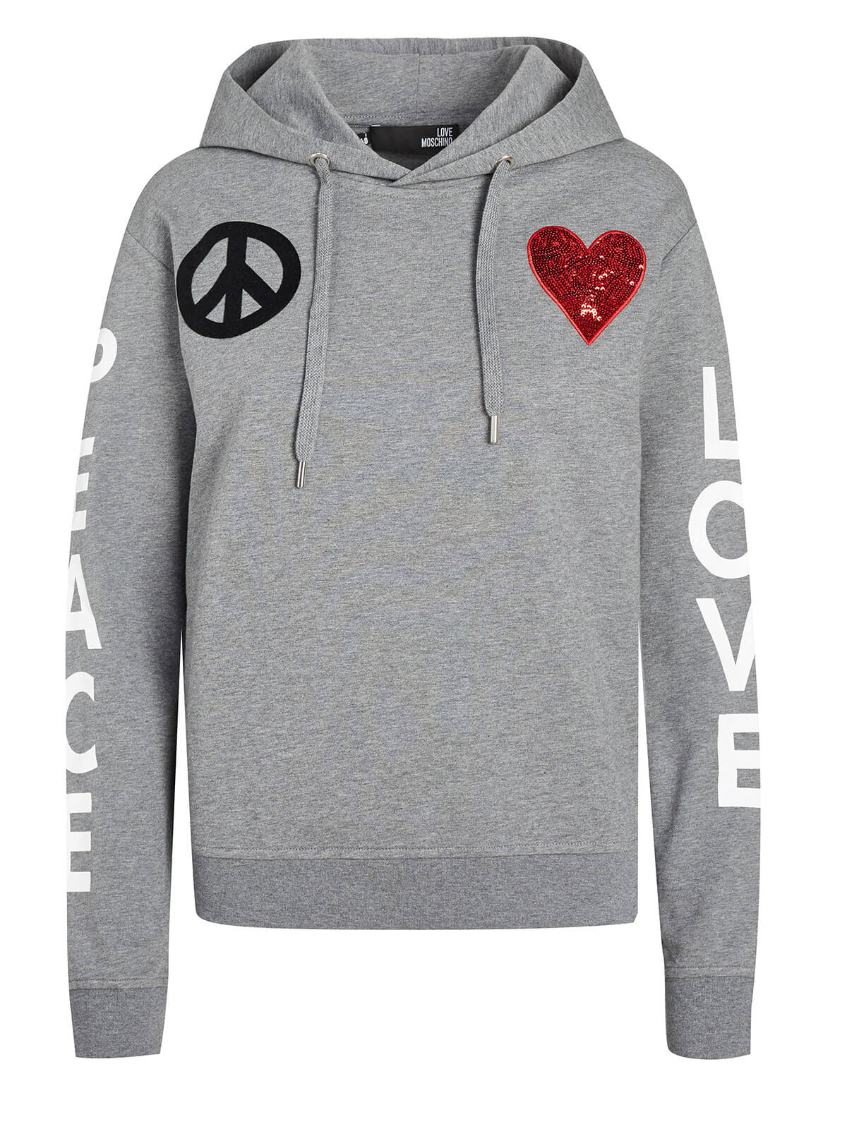 Love Moschino Hoodie Grey by Love Moschino